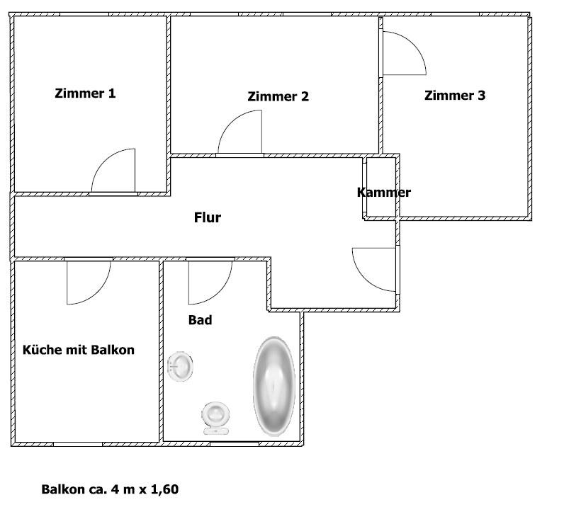 wohnung plauen vogtland 2 raumwohnung 2 zimmer 2 raum 3. Black Bedroom Furniture Sets. Home Design Ideas